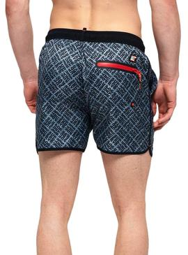 Swimsuit Superdry Echo Racer Homens Azuis