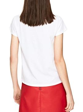 Jeans Pepe T-Shirt Alissa Branco Mulher