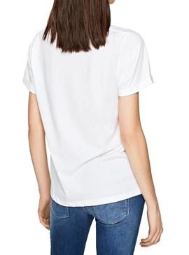 T-Shirt Pepe Jeans Adette Branco Mulher