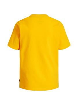 T-Shirt Jack e Jones Viking Amarelo Menino
