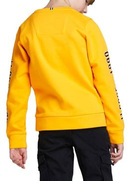 Sweat Jack and Jones Covictor Amarelo Menino