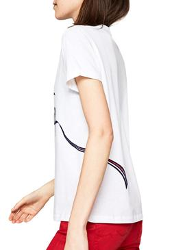 T-Shirt Pepe Jeans Anouck Branco Mulher