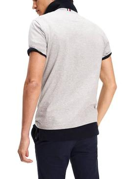 T-Shirt Tommy Hilfiger Strike Through Cinza