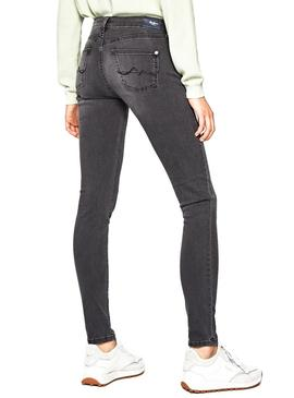 Jeans Pepe Jeans Pixie UC4 Cinza Mulher