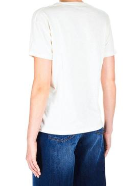 T-Shirt Pepe Jeans Mia Branco Mulher