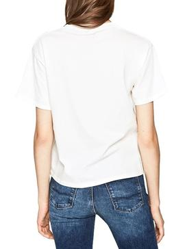 T-Shirt Pepe Jeans Musete Branco Mulher
