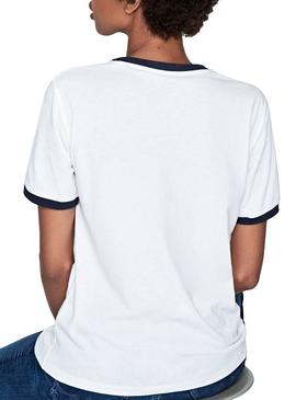 T-Shirt Pepe Jeans Mila Branco Mulher