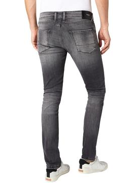 Jeans Pepe Jeans Finsbury Cinza Homem