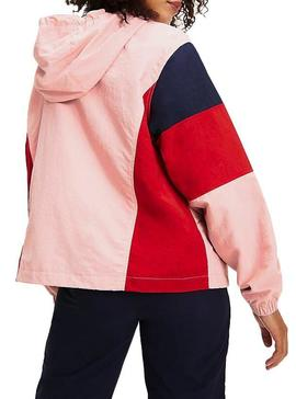 Blusão Tommy Jeans Colorblock Panel Mulher