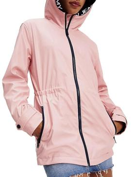 Capa de chuva Tommy Jeans Tape Detail Rosa Mulher