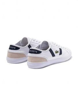 Sapato Lacoste Sideline Branco Mulher