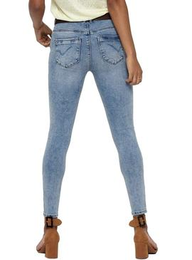 Jeans Only Paola Light Azul Mulher