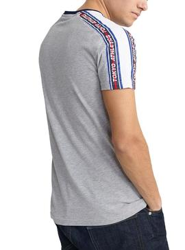 T-Shirt Superdry Trophy Cinza para Homens