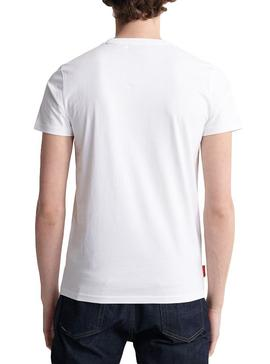 T-Shirt Superdry Colletive Branco Homens