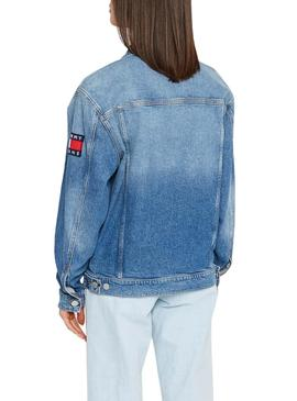 Casaca Denim Tommy Jeans Oversize ANMB Mulher