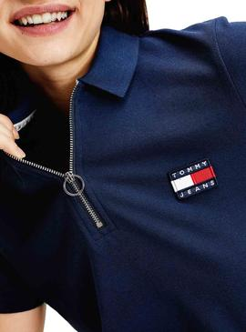 Polo Tommy Jeans Badge Azul para  Mulher