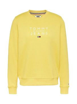 Sweat Tommy Jeans Frutas Amarelo para Mulher