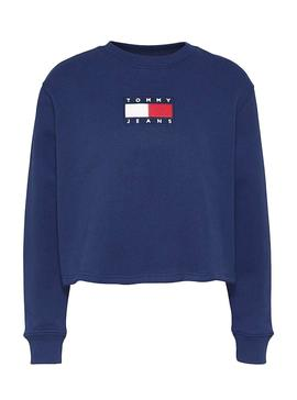 Sweat Tommy Jeans Crew  Azul para Mulher