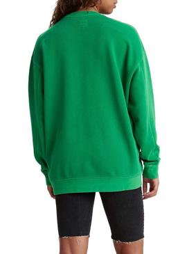 Sweat Levis Snoopy Unbasic Verde para  Mulher