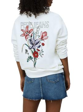 Sweat Pepe Jeans Becky Branco para Mulher