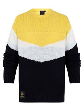 Sweater Altonadock Stripes Yellow for Men