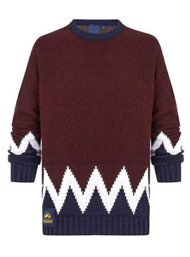 Sweater Altonadock Grecas Garnet for Men