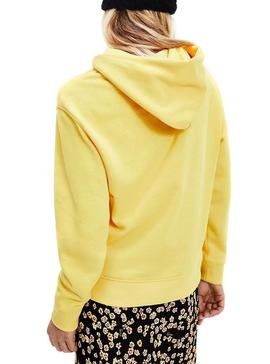 Sweat Tommy Jeans Linear Amarelo para Mulher