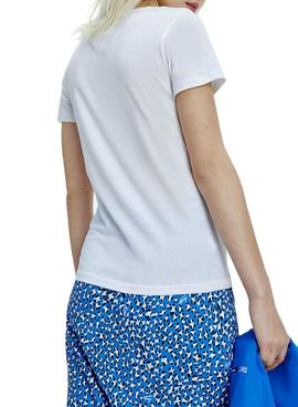 T-Shirt Tommy Jeans Essential Branco para Mulher