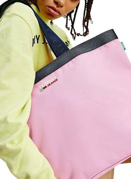 Bolsa Tommy Jeans Campus Tote Rosa para Mulher