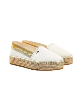 Alpercatas Tommy Jeans Espadrille Branco Mulher