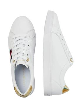 Sapatilhas Tommy Hilfiger Corporate Branco Mulher